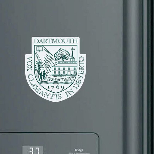 Dartmouth Shield magnet in green and white