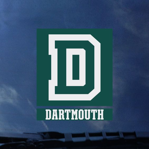 Exterior 'Dartmouth D' decal in green and white