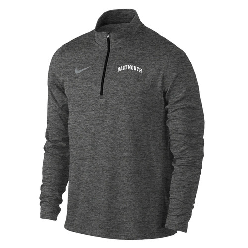 Men's Nike grey 1/4 zip with grey Nike swoosh on the right and 'Dartmouth' on the left in white