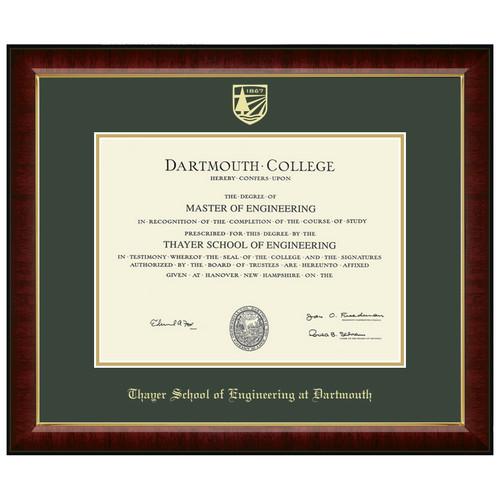 Diploma Frame Murano - Thayer School of Engineering at Dartmouth