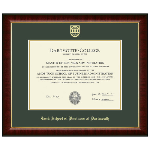 Diploma Frame Murano - Tuck School of Business at Dartmouth