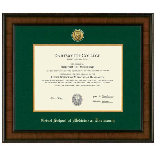 Diploma Frame Presidential Medallion Madison  - Geisel School of Medicine at Dartmouth