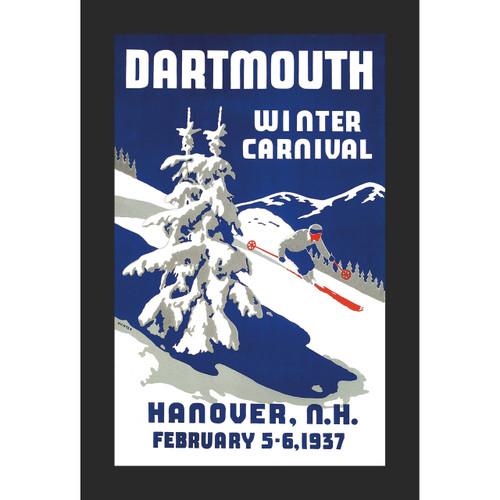 Framed 1937 Winter Carnival Poster #2