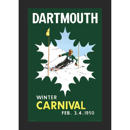 Framed 1950 Winter Carnival Poster