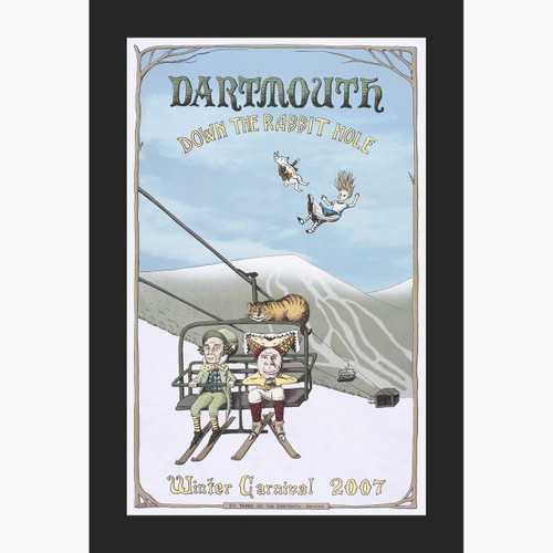 2013 DARTMOUTH WINTER CARNIVAL POSTER ORIGINAL BOUGHT DIRECTLY FROM COLLEGE