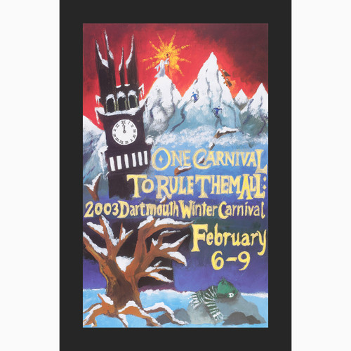 Framed 2003 Winter Carnival Poster