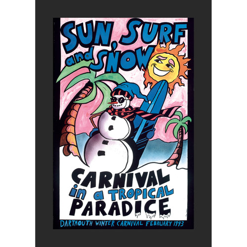 Framed 1993 Winter Carnival Poster