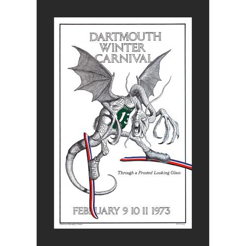 Framed 1973 Winter Carnival Poster