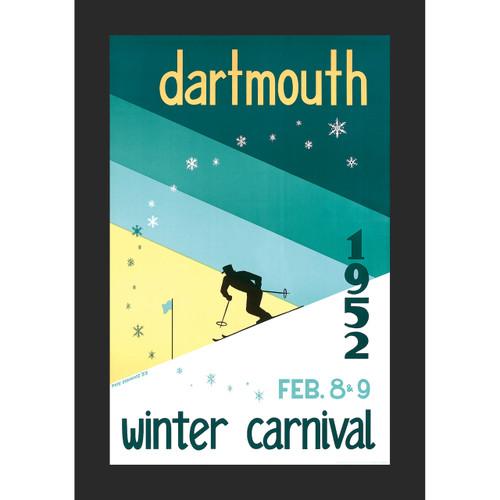 Framed 1952 Winter Carnival Poster