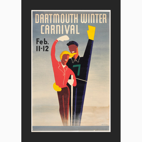 Framed 1938 Salute Winter Carnival Poster