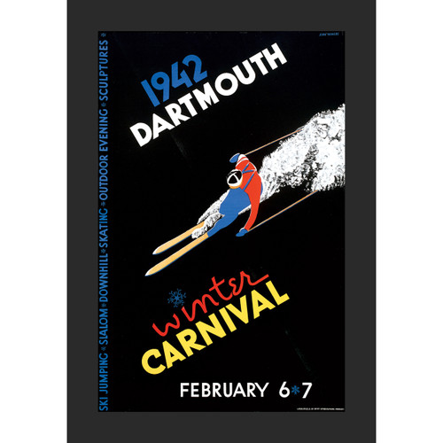 Framed 1942 Winter Carnival Poster