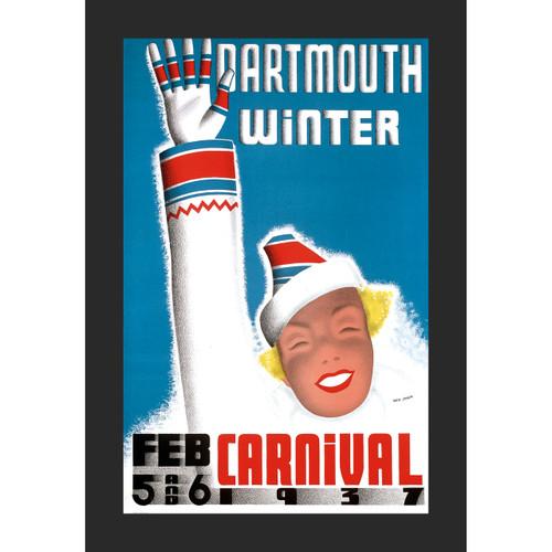 Framed 1937 Winter Carnival Poster #1