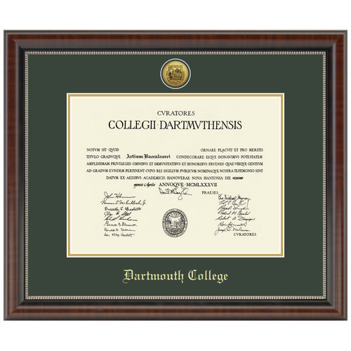 Diploma Frame Engraved Chateau - Dartmouth