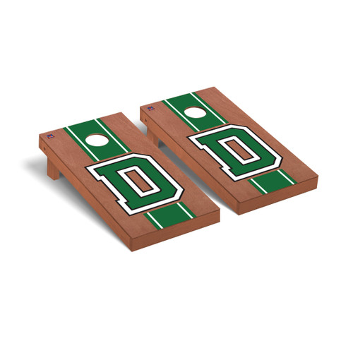 Rosewood Stain D Cornhole Boards Game Set
