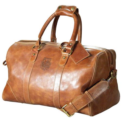 Leather Embossed Medium Duffel - Tan