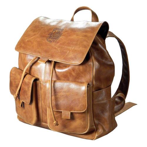 Leather Embossed Rucksack - Tan Dartmouth