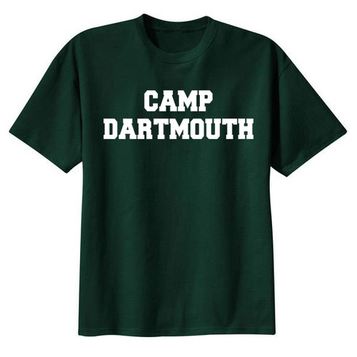 Green short sleeve tee with 'Camp Dartmouth' across the chest in white