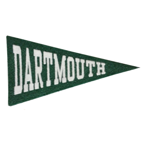 Green pennant with 'Dartmouth' in white