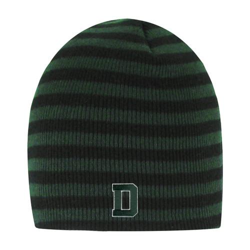 Blizzard Stripe Black Knit Hat Dartmouth
