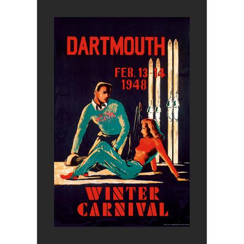 Framed 1948 Winter Carnival Poster