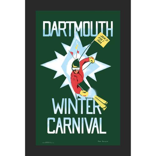 Framed 1958 Winter Carnival Poster