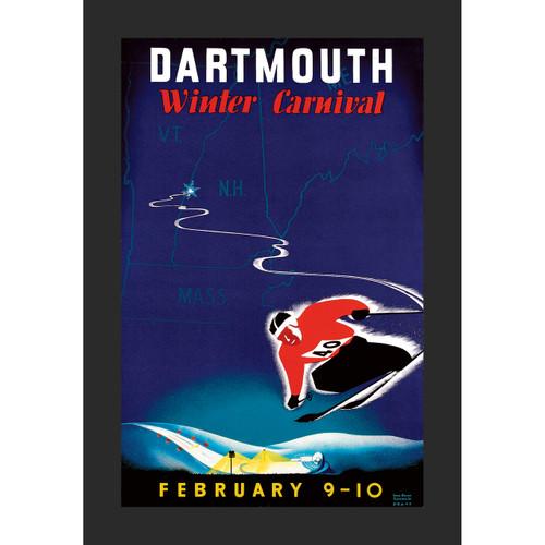 Framed 1940 Winter Carnival Poster