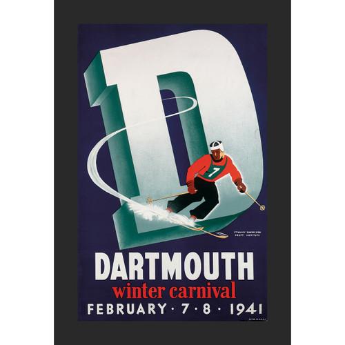 Framed 1941 Winter Carnival Poster