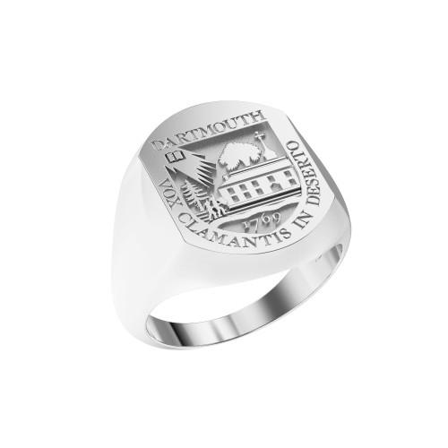 Ring Elliptical Large Full Shield Sterling Silver
