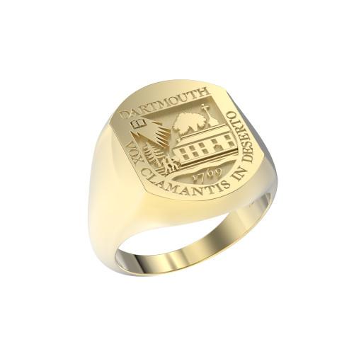 Ring Elliptical Large Full Shield 14K Gold