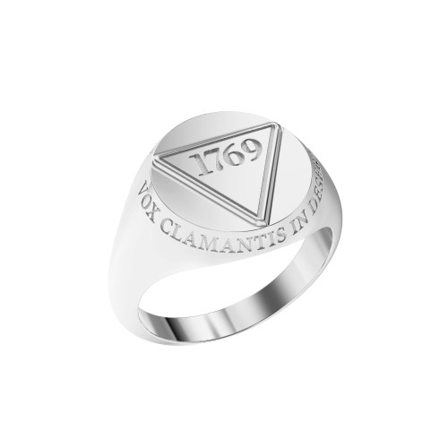 Ring Founder's Large 1769 Sterling Silver with Outer Text