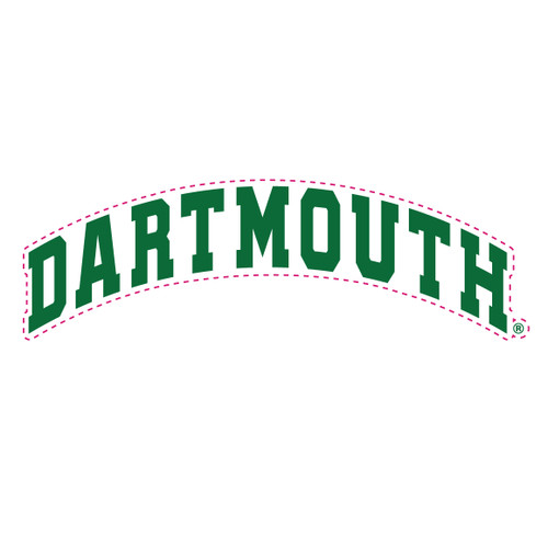 White and green arched 'Dartmouth' magnet