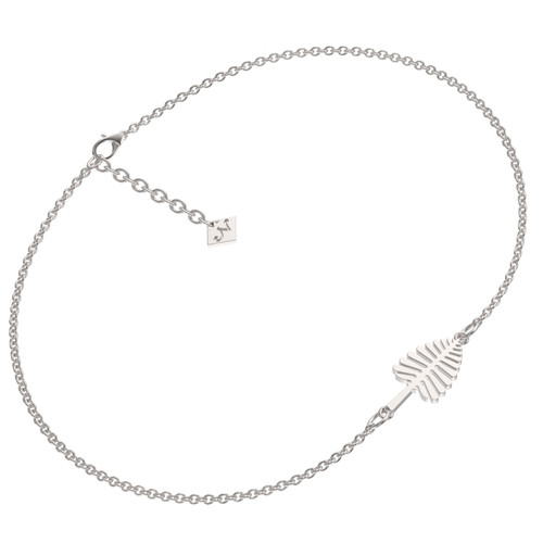 Sterling silver lone pine bracelet with adjustable chain