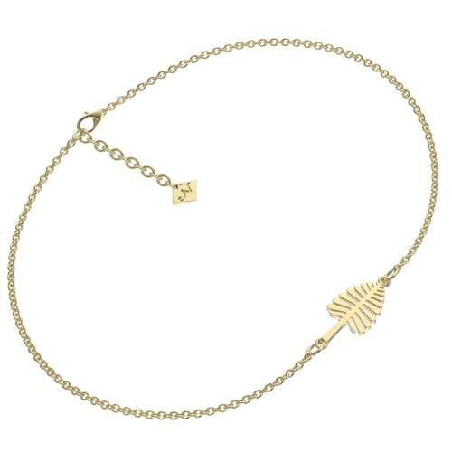 Gold plated lone pine bracelet with adjustable chain