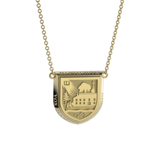 10K Yellow Gold Shield Necklace