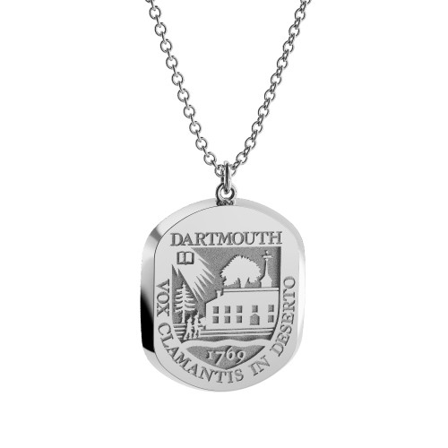 Sterling Silver Elliptical Pendant Necklace