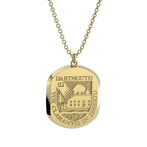 14K Yellow Gold Elliptical Pendant Necklace