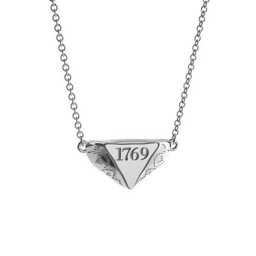 Sterling Silver 1769 Mini Delta Pendant Necklace