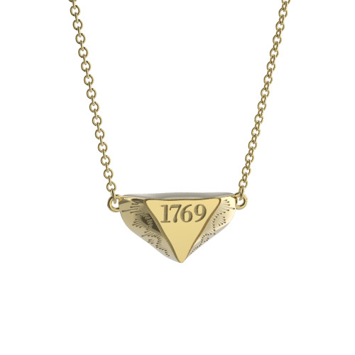 14K Yellow Gold 1769 Mini Delta Pendant Necklace