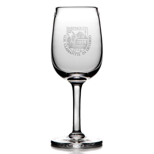 Simon Pearce Woodstock White Wine Glass - Dartmouth Shield