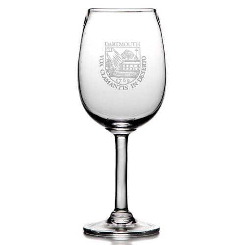 Simon Pearce Woodstock Red Wine Glass - Dartmouth Shield