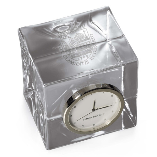 Simon Pearce Woodbury Clock In A Gift Box - Dartmouth Shield