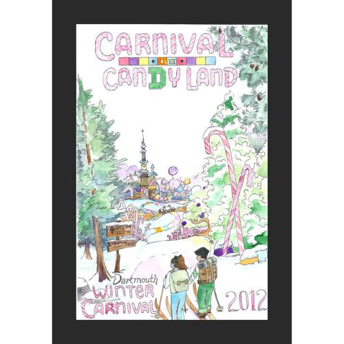 Framed 2012 Winter Carnival Poster