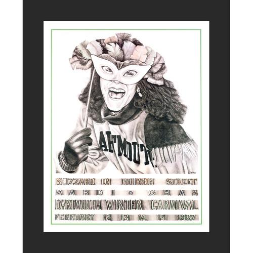 Framed 1987 Winter Carnival Poster