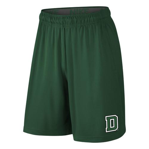 Men's Nike green short with green 'D' on left leg