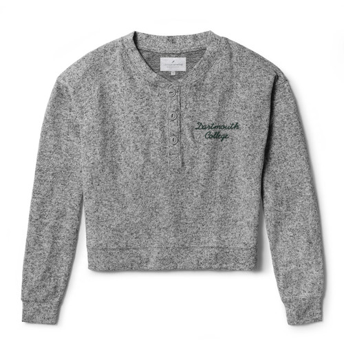 Women's grey long sleeve with 'Dartmouth College' on the left chest