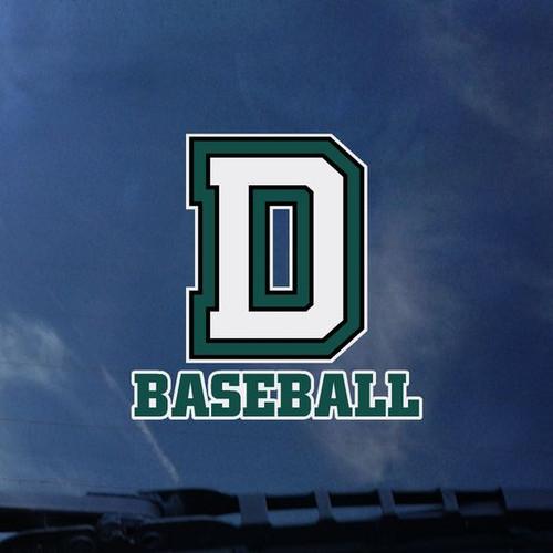 Baseball D Exterior Decal