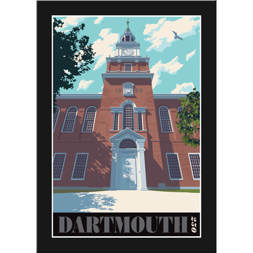 Framed Baker Library Poster: Dartmouth 250th