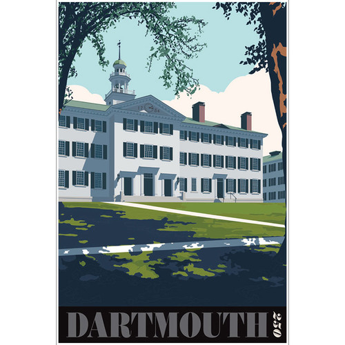 Unframed Dartmouth Hall Poster: Dartmouth 250th