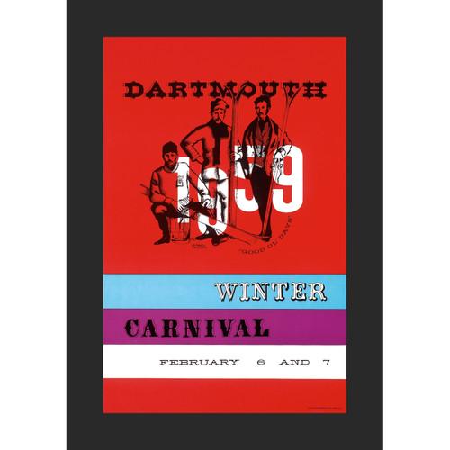 Framed 1959 Winter Carnival Poster