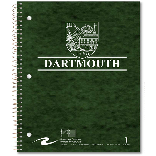 1-Subject Dartmouth Notebook